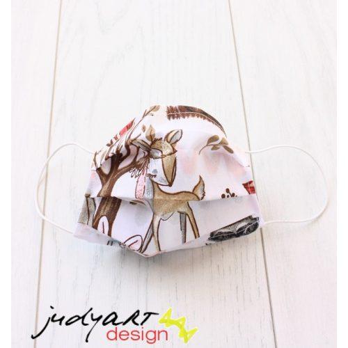 Judyartdesign FELNŐTT textil szájmaszk - vattacukor erdő